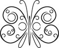 Decorative black and white butterfly Royalty Free Stock Photo