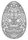 Decorative black and white Easter egg.