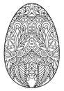Decorative black and white Easter egg.