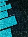 Decorative blue render facade Royalty Free Stock Photo