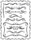 Decorative Borders Set 3 Stock Images