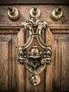 Decorative Brass Door Knocker Royalty Free Stock Photo