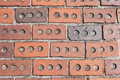 Decorative brick paving Royalty Free Stock Image