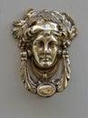 A decorative Bronze Door Handle, Malta Royalty Free Stock Photo