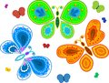 Decorative butterfly collection Royalty Free Stock Image