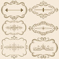 Decorative Calligraphic Frames III Royalty Free Stock Photo