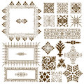 Decorative calligraphic ornate design elements collection of different vintage of classical symmetrical vintage filigree ornament Royalty Free Stock Photography