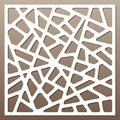 Decorative card for cutting. Abstract lines pattern. Laser cut. Ratio 1:1. Royalty Free Stock Photo