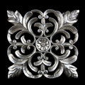 Decorative carving element in silver finish Stock Photography