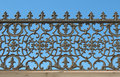 Decorative cast-iron fence Stock Image