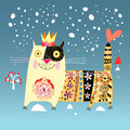 Decorative cat Royalty Free Stock Images
