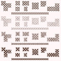 Decorative celtic border vector elements Stock Photos
