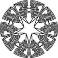 Decorative celtic knot Stock Photos