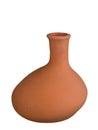 Decorative ceramic vase isolated on white asymmetric unpainted background Royalty Free Stock Image