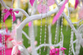Decorative chain wedding white tree Stock Images