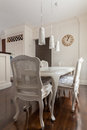 Decorative chairs and table in the kitchen Royalty Free Stock Photos
