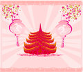 Decorative chinese landscape illustration Royalty Free Stock Photos