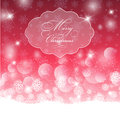Decorative christmas background with bokhe lights design Stock Photos