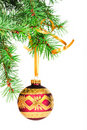 Decorative Christmas ball. Royalty Free Stock Image
