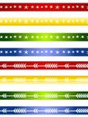 Decorative Christmas Borders or Dividers 2 Royalty Free Stock Photos