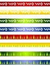 Decorative Christmas Borders or Dividers Royalty Free Stock Image