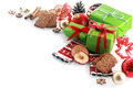 Decorative Christmas corner decoration Royalty Free Stock Photo