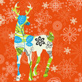 Decorative Christmas deer Stock Images