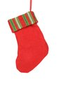 Decorative christmas red sock isolated on a white background Royalty Free Stock Photography