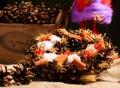 Decorative christmas toys close up Stock Photos