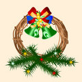 Decorative Christmas wreath Stock Photo