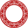 Decorative circle framework with abstract flowers Royalty Free Stock Photo