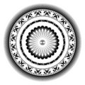 Decorative Circular Rosette Royalty Free Stock Photo