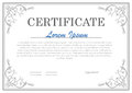Decorative clasic certificate template Royalty Free Stock Photo