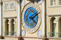 Decorative clock on Venetian Resort hotel and casino facade, Las Royalty Free Stock Photo