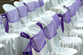 Decorative cloth wrapping seats Stock Photo