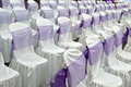 Decorative cloth wrapping seats Stock Photos