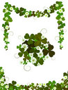 Decorative clover design Royalty Free Stock Photos