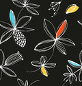 Decorative colorful floral seamless pattern. Vector summer background with cute flowers. Royalty Free Stock Photo