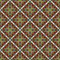 Decorative colorful mosaic tile. Seamless vector rhomboid patterns filled with multicolored shards Royalty Free Stock Photo