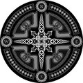 Decorative compass in celtic style with ornament a vector Stock Images