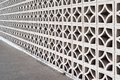 Decorative masonry screen wall