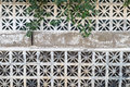 Decorative concrete blocks wall background Royalty Free Stock Photo