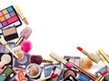 Decorative cosmetics for makeup. Royalty Free Stock Photography