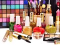 Decorative cosmetics for makeup. Royalty Free Stock Image