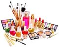 Decorative cosmetics and perfume. Royalty Free Stock Image