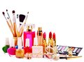 Decorative cosmetics and perfume. Stock Images