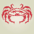 Decorative crab hand drawn design element Stock Photography