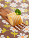 Decorative curl of rolled butter Royalty Free Stock Photo