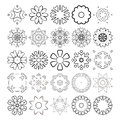 Decorative design elements. Circle ornament. Vector set. Royalty Free Stock Photo