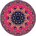 Decorative dish with beautiful floral ornament. Interior design. Royalty Free Stock Photo